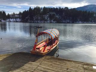 Pletna Boat, Bled Lake, Slovenia