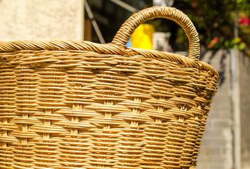 Close of handmade natural basket