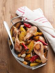 Oven-baked chicken legs