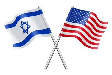 Flags : Israel and United states