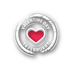 Valentines day heart. Vector illustration.