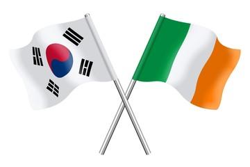 Flags: South Korea and Ireland