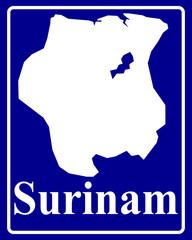 silhouette map of Surinam