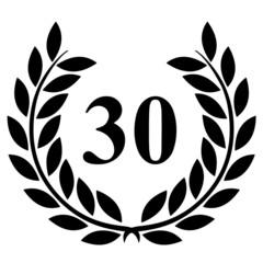 Lauriers 30 sur fond blanc