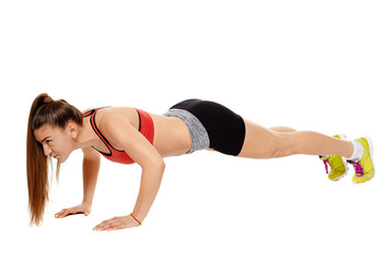 Girl doing pushups