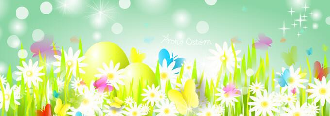 Wiese Banner Grün Ostern