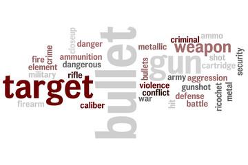 weapon word cloud concept