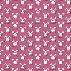 bunny pattern background for website or easter day