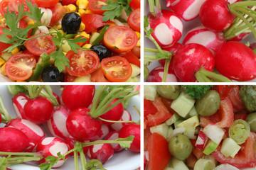 Salade de tomates crudités aux radis