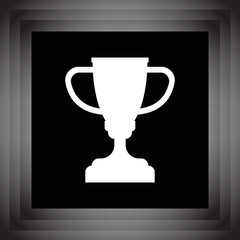 champions trophy cup vector icon