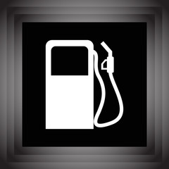 gas station pump vector icon