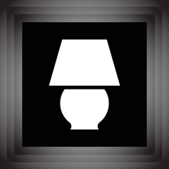 lamp vector icon