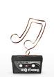 Musikkassette, Retro, 80er, achtziger, Nostalgie, Musik, Tape