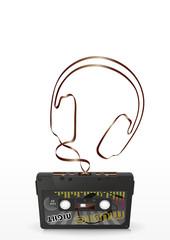 Kopfhörer, Retro, 80er, achtziger, Nostalgie, Musik, Headphone