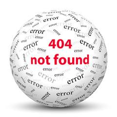 Kugel, 404 not found, Error, Nachricht, Message, Fehlermeldung