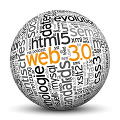 Kugel, Web 3.0, Tags, Word Cloud, Text Cloud, Keyword, 3D, Keys
