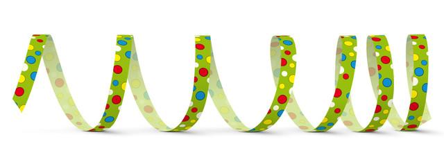 Luftschlange, Papierschlange, Spirale, Party, gekringelt, Deko