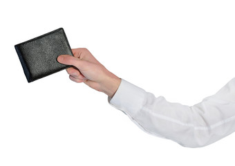 Man ahnd give wallet