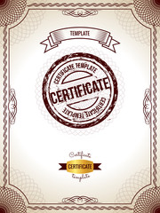 Vector illustration of gold detailed blank certificate