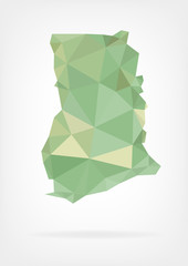 Low Poly map of Ghana