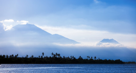Volcanos of Java by morning light