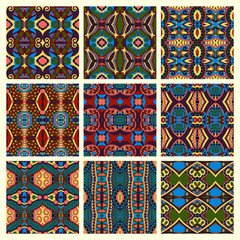 seamless colored vintage geometric pattern