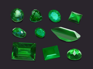 Emerald gemstones collection