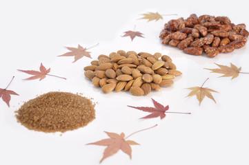 Sugar, almonds and garrapinyades