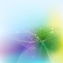 Abstract colorful curve blending flow background, Vector