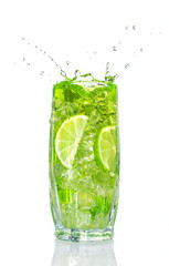 refreshing cocktail with mint and lime
