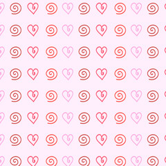 gentle pink background of hearts