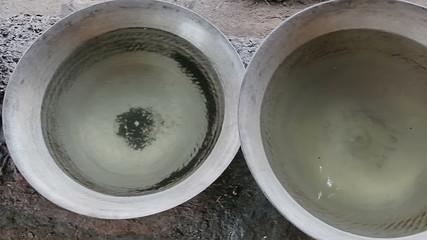 Preparing palm brandy - Myanmar