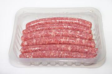Spicy pork sausages