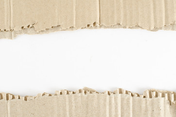 Brown Corrugated paper on white background
