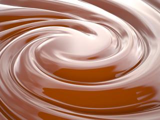 Chocolate cream, 3D