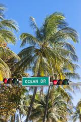 Famous Ocean Drive street sign