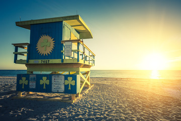 Miami South Beach sunrise, special photographic processing