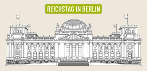 Reichstag in Berlin als Vektor
