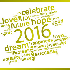 Abstract Background - Happy New Year 2016