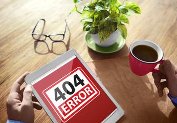 404 Error Warning Digital Device Browsing Concept