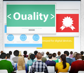 Quality Excellence Efficiency Reliable Seminar Concept