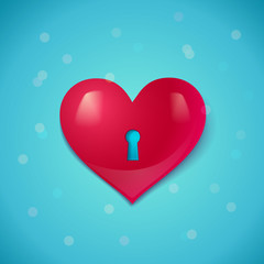 Heart with keyhole