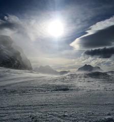 vento in montagna