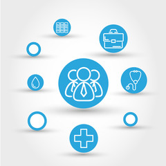 healthcare circle concept with people