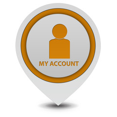 My account pointer icon on white background