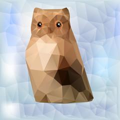 Owl vector geometric polygonal