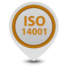 Iso 14001 pointer icon on white background