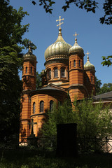 Russian Orthodox Chapel at the Historic Cemetery in Weimar, Germ