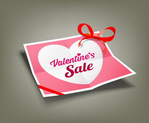 Valentines sale origami paper design