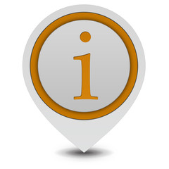 information pointer icon on white background